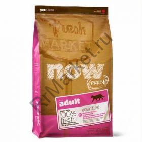 NOW! NATURAL беззерновой корм для взрослых кошек с индейкой, уткой и овощами 31/18