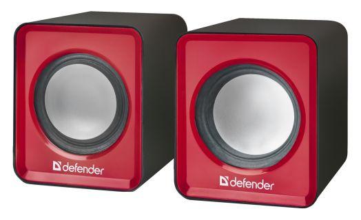 Мультимедийные колонки 2.0 Defender SPK 22 красный, 5 Вт, питание от USB