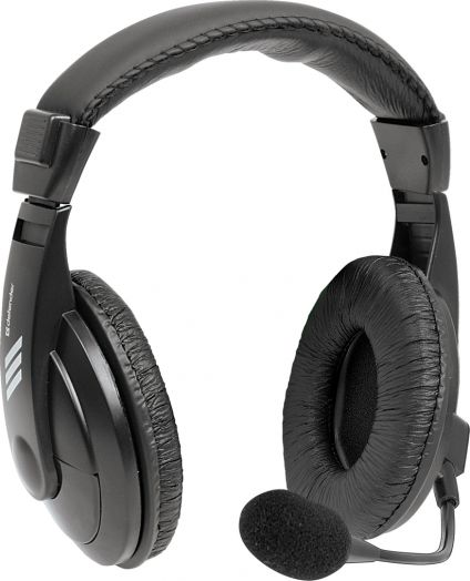 Мониторные наушники с микрофоном Defender Gryphon 750 черный, кабель 2 м