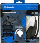 Гарнитура (науш.+микр.) DEFENDER Warhead G-170 черный, кабель 2,5 м игровая