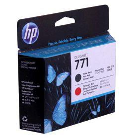 HP CE017A Оригинальная печатающая головка матовая черная и красная 771