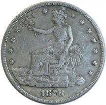Копия 1 доллар 1878 года S Торговый