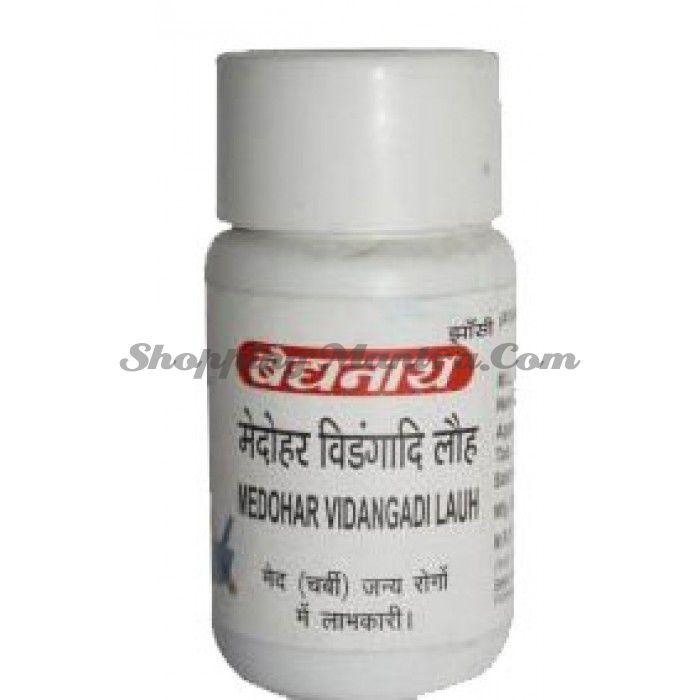 Медохар Видангади Лаух капсулы для похудения Байдьянатх / Baidyanath Medohar Vidangadi Lauh Capsules