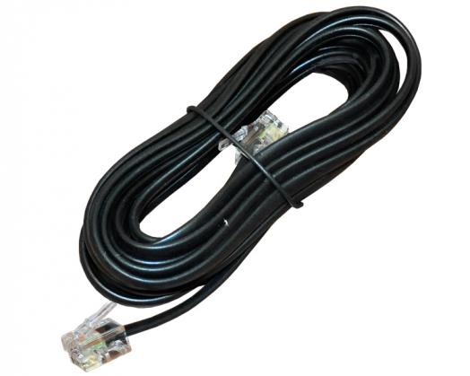 Телефонный удлинитель ДЖЕТТ ТД-5 ( джек 6p4c - джек 6p4c ) 5 м (Черный)