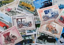 Postcard Stamps. Transport