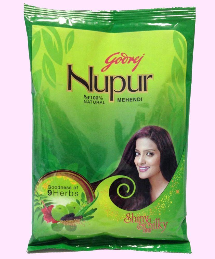 Индийская хна для волос Godrej Nupur Mehendi Henna, 50 г (Москва)