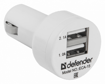 Распродажа!!! Автомобильный адаптер ECA-15 2 порта USB, 5V/2А, пакет
