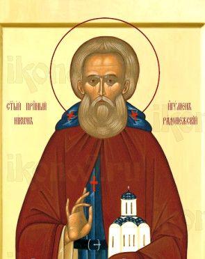 Никон Радонежский (рукописная икона)