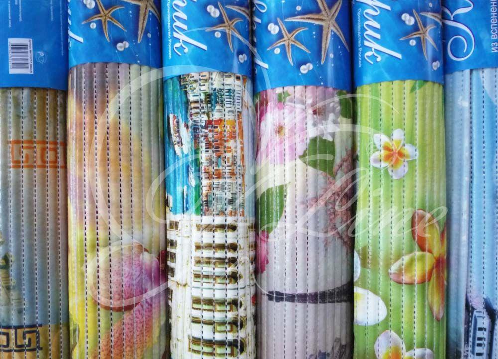 Коврик напольный Вилина из вспененного ПВХ 65х100 см цвет в ассортименте