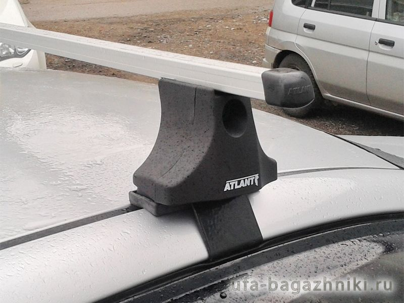 Багажник на крышу Toyota Corolla 2001-06, Атлант, прямоугольные дуги