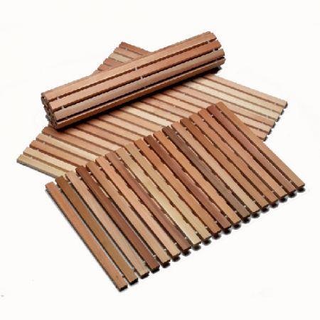 Коврики деревянные для сауны
