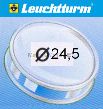 Капсула для монеты Leuchtturm 24,5 мм, упаковка 10 шт