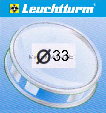 Капсула для монеты Leuchtturm 33 мм, упаковка 10 шт