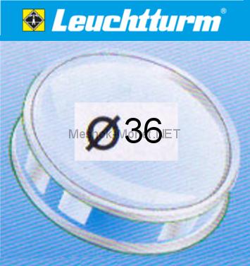 Капсула для монеты Leuchtturm 36 мм, упаковка 10 шт