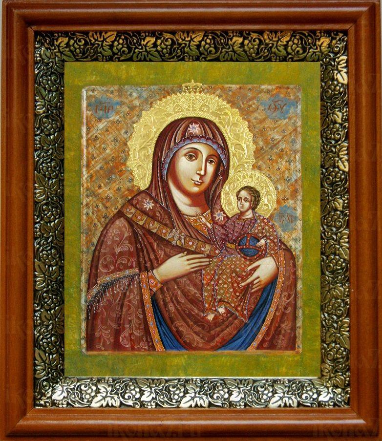 Вифлеемская икона БМ (19х22), светлый киот