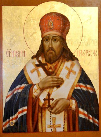 Икона Иннокентий Иркутский (рукописная)