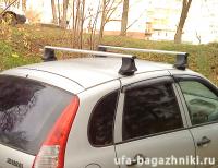 Багажник на крышу на Ладу Калину (Атлант, Россия), аэродинамические дуги