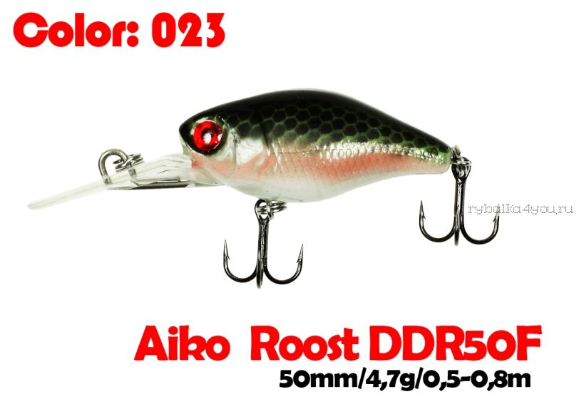 Купить Воблер Aiko Roost cnk DDR 50F 50 мм/ 4,7 гр / 0,5 - 0,8 м цвет 023