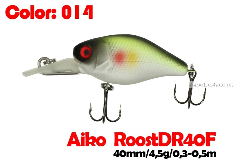 Купить Воблер Aiko Roost cnk DR 40F 40 мм/ 4,5 гр / 0,3 - 0,5 м цвет 014