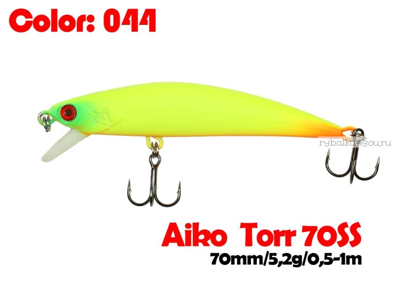 Воблер  Aiko TORR 70SS  70 мм/ 5,6 гр / 0,5-1 м / цвет - 044