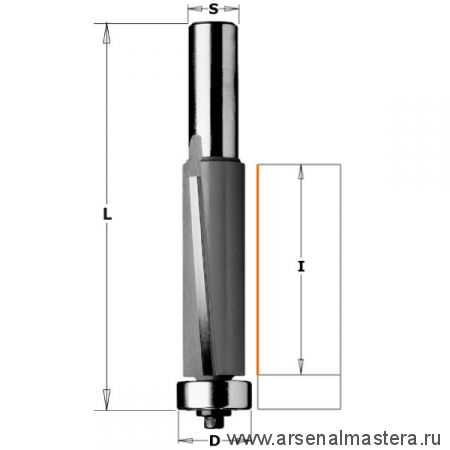 CMT 906.1925 Фреза PRO обгонная бреющий угол (нижн. подш.) S12 D19 I25,4 L86,5