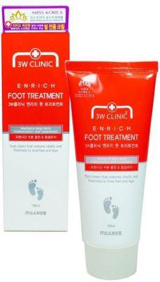 Крем для ног Увлажнение и Очищение 3W CLINIC Enrich Foot Treatment 100мл