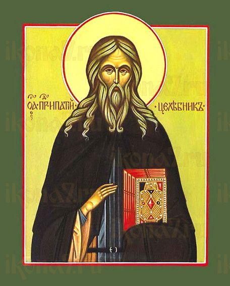 Ипатий Печерский (рукописная икона)