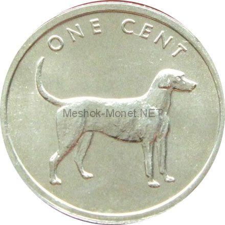 Острова Кука 1 цент 2003 г. Собака