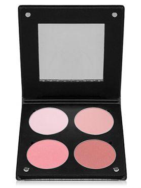 Make-Up Atelier Paris Palette Blush Powder 3D  BL3DR Rose Румяна в палитре на 4 цвета розовая с зеркалом
