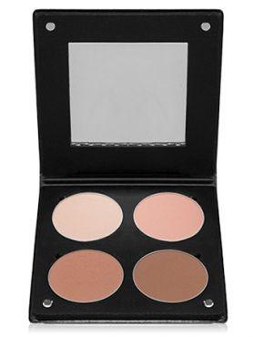 Make-Up Atelier Paris Palette Blush Powder 3D  BL3DN Nude Румяна в палитре на 4 цвета телесная гамма с зеркалом