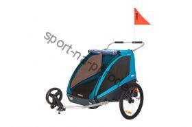 Коляска Thule Chariot Coaster2/Коустер2 XT, с велосцепкой и компл. прогул. коляcки синий, 14-