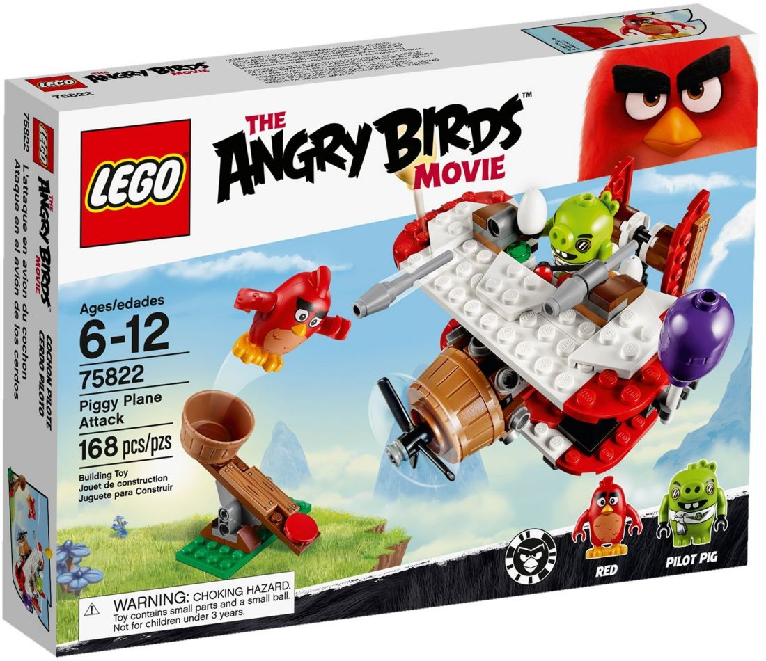 75822 Самолётная атака свинок  Конструктор ЛЕГО Angry Birds