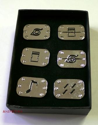 Набор значков Naruto
