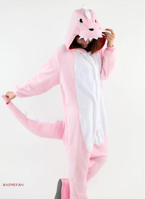 Пижама Кигуруми Динозавр розовый_01