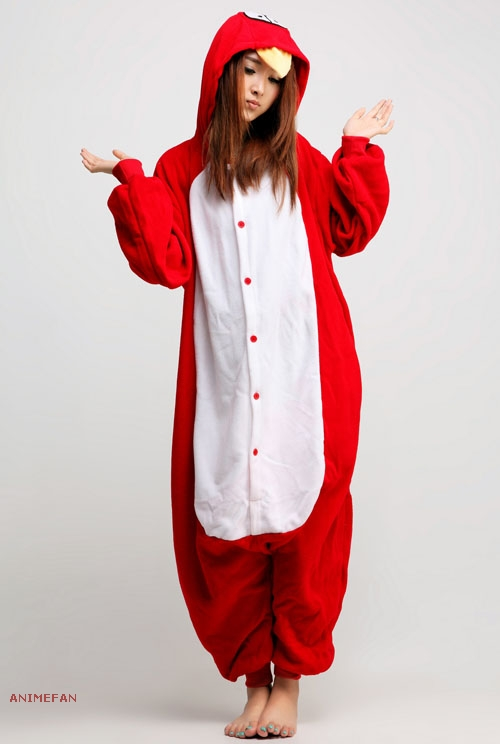 Пижама Кигуруми Красная птица_01