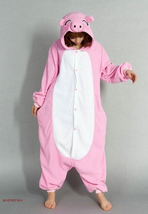 Пижама Кигуруми Свинка Розовая_01