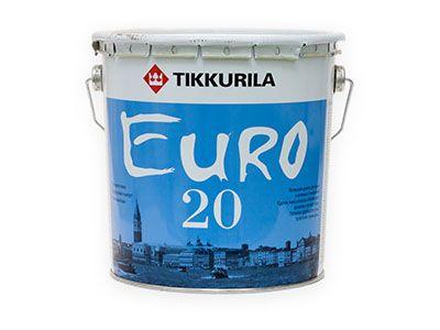 Краска для сухих и влажных помещений TIKKURILA Euro 20