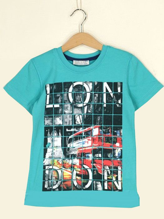 Бирюзовая футболка для мальчика London