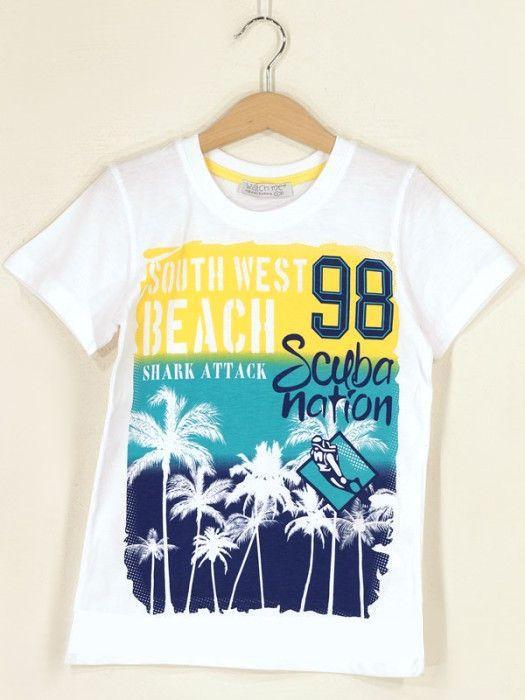 Белая футболка для мальчика South West Beach