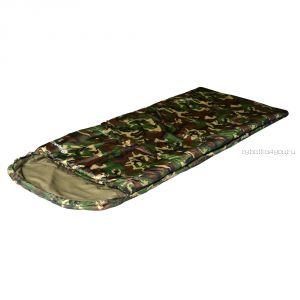 Спальный мешок Prival ХАНТЕР 350 КМФ  /одеяло с подголовником, размер 210х90, t -3 +15С