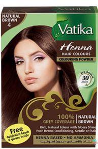 Индийская хна для окраски волос Dabur Vatika Hair Colors Natural Brown (коричневая),6 пак*10 гр
