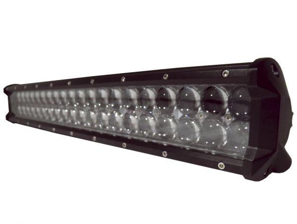 Двухрядная светодиодная LED фара с 4D линзой - 144W CREE дальний свет