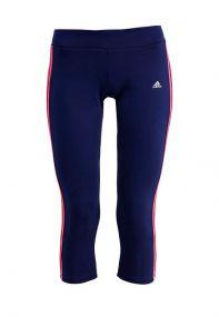 Женские бриджи 3/4 adidas 3 Stripes Essentials 3/4 Climalite синие