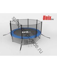 Батут Unix 12 ft с сеткой и лестницей Blue