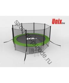 Батут Unix 12 ft с сеткой и лестницей Green