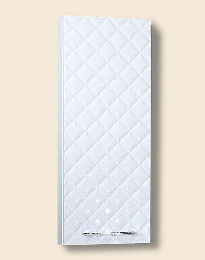 Шкаф навесной для ванной комнаты Бриклаер ЖАКЛИН 40, белый/стразы