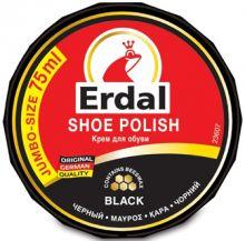 Erdal Крем для обуви чёрный 75 г/банка
