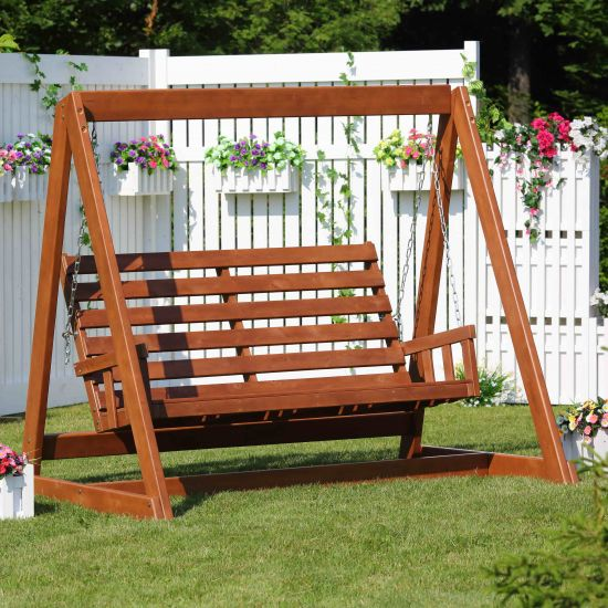Качели садовые ГЛОРИЯ (без матраса и навеса)