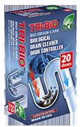 Tri-Bio Биоформула для прочистки бытовых канализаций, контроллер запаха 100 г