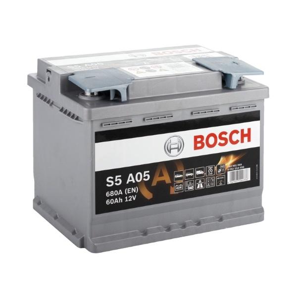 Автомобильный аккумулятор АКБ BOSCH (БОШ) S5 A05 / 560 901 068 S5 AGM 60Ач о.п.